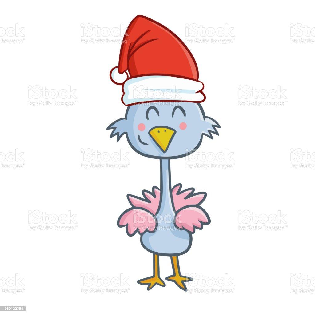57a269f4464f2 blue chicken wearing Santa s hat royalty-free blue chicken wearing santas  hat stock vector art