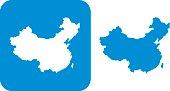 Blue China Icon