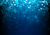 istock Blue Christmas abstract sparkles 1268307633