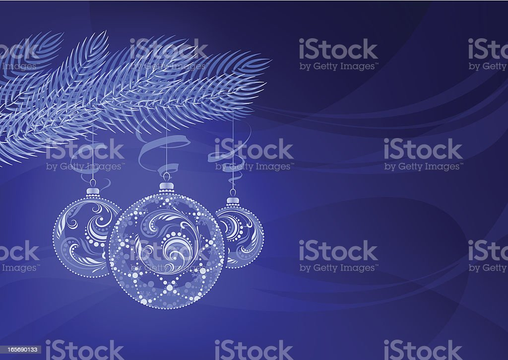 Blue Christmas background vector art illustration