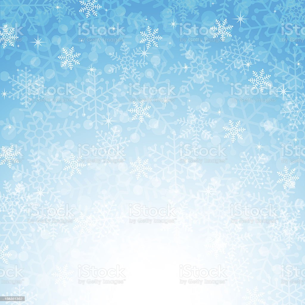Blue Christmas background with snowflakes royalty-free stock vector art