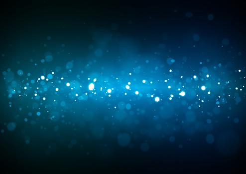 Blue Christmas glittering background