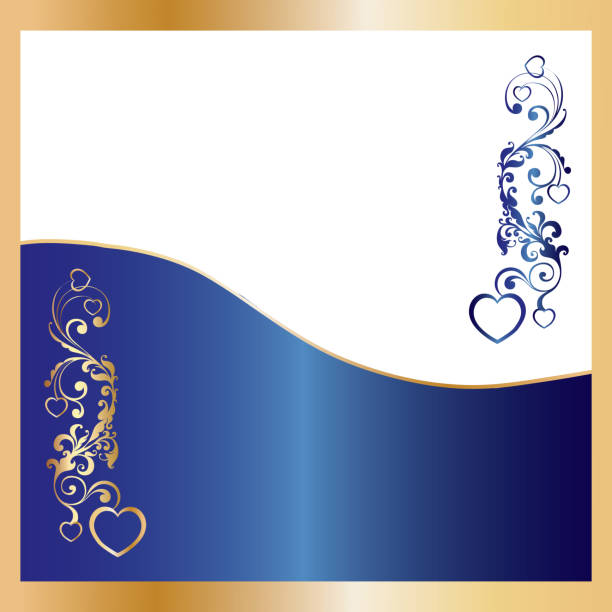 Blue Christmas greetings card, New Year background, part 12 vector art illustration