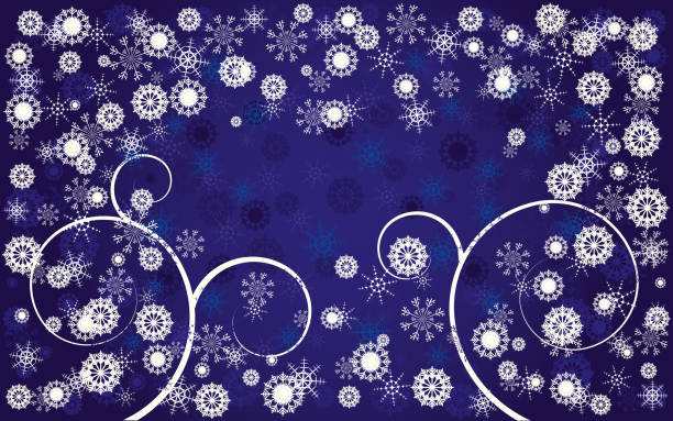 Blue Christmas greetings card, New Year background, part 17 vector art illustration