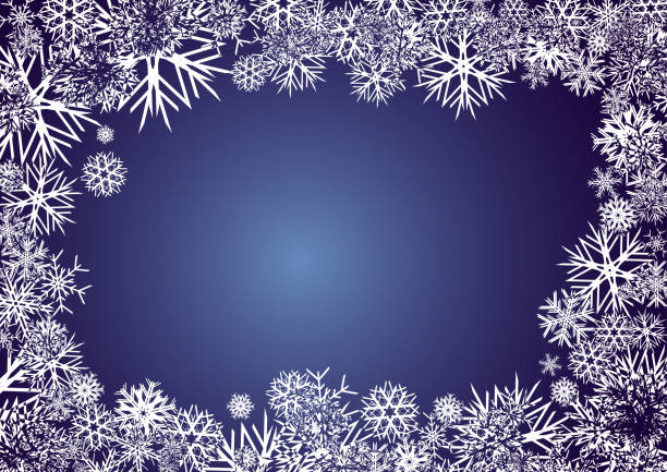 Blue Christmas greetings card, New Year background, part 4 vector art illustration