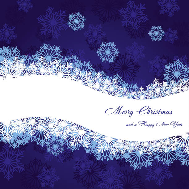 Blue Christmas greetings card, New Year background, part 9 vector art illustration
