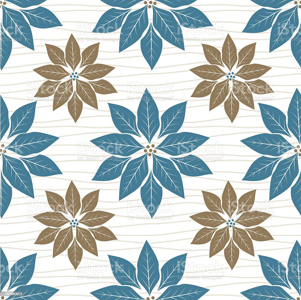 Blue Christmas Poinsettia Pattern royalty-free blue christmas poinsettia pattern stock vector art & more images of backgrounds