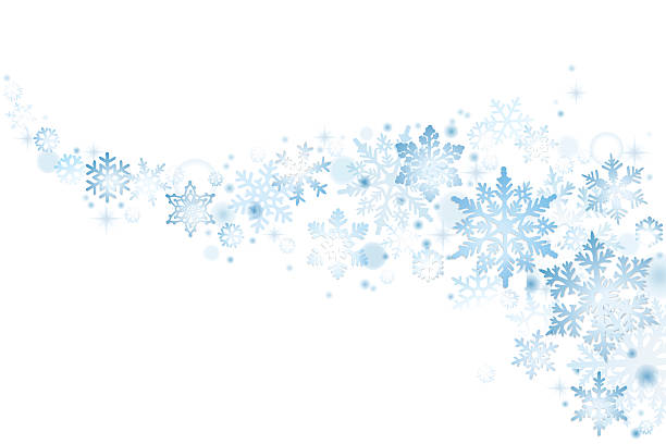 Blue Christmas snowflakes vector art illustration
