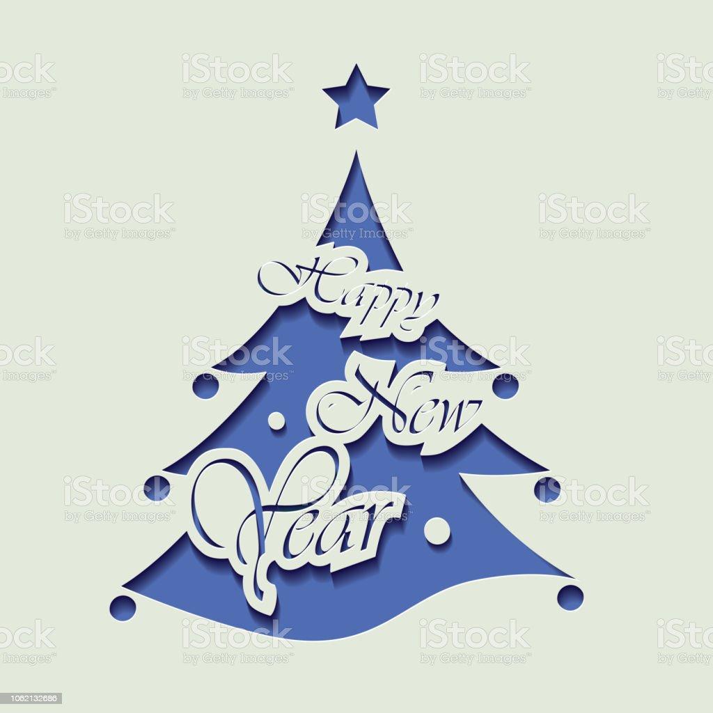 Ilustración De Tarjeta De Invitación Del árbol De Navidad