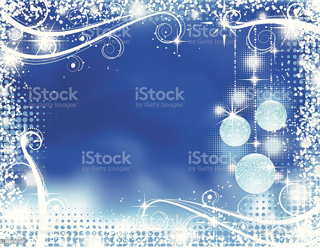 Blue Christmas royalty-free blue christmas stock vector art & more images of abstract