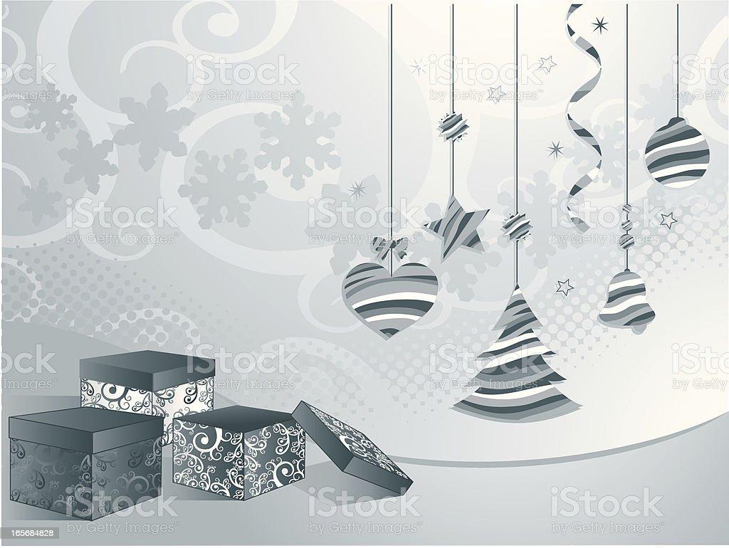 Blue Christmas royalty-free stock vector art