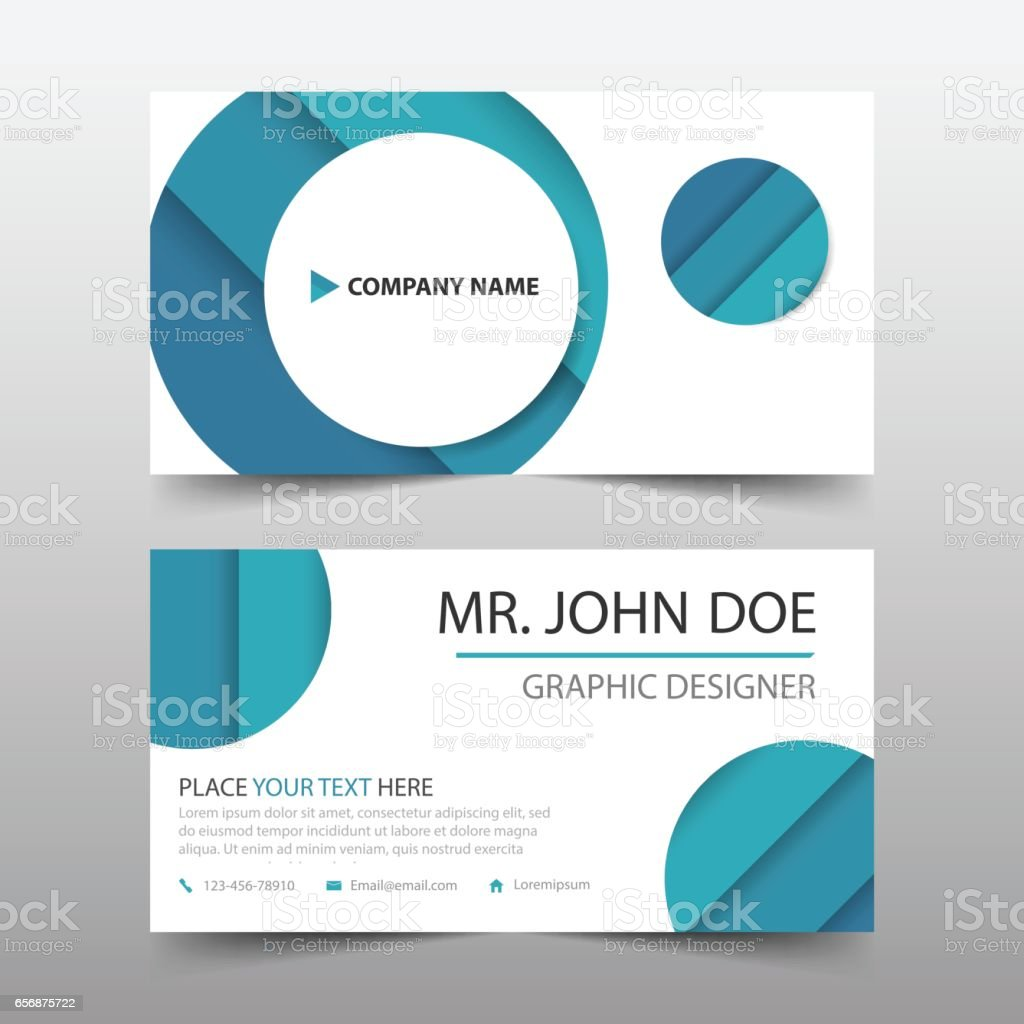 Blue circle corporate business card name card template horizontal blue circle corporate business card name card template horizontal simple royalty free blue reheart Choice Image