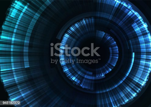 istock blue circle digital blast abstract sheet background 945182370