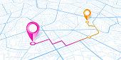 Blue City map navigation design