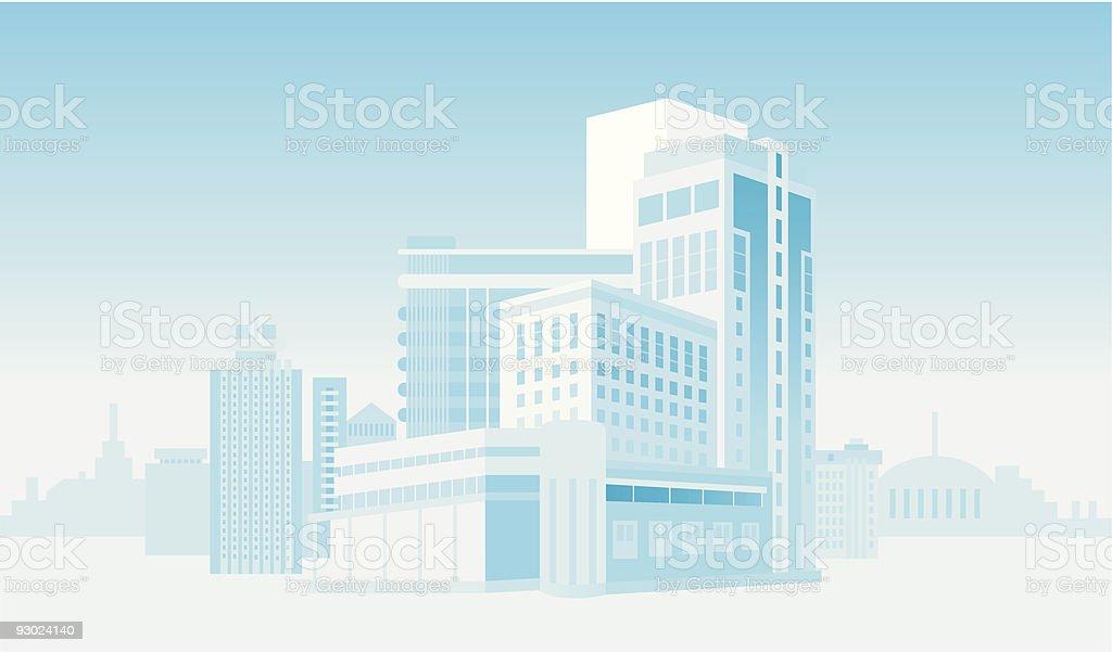 Blue city royalty-free stock vector art