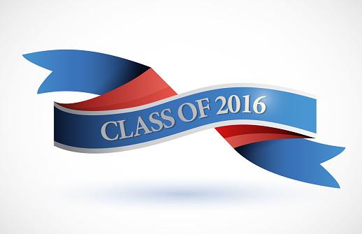 Blue class of 2016 ribbon