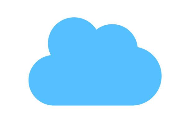 Blue cloud icon vector art illustration