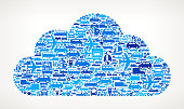 Blue Cloud on royalty free vector Transportation interface icon Pattern. The pattern features vector interface icons on white Background: car, truck airplane, motorcycle, bus, taxi, helicopter, ship, van, bicycle and other transportation vehicles. interface icons can be used separately for app icons and internet buttons. Icon download includes vector art and jpg file.