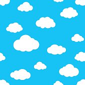 Blue Cloud seamless pattern