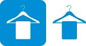 Blue Coat Hanger Icons