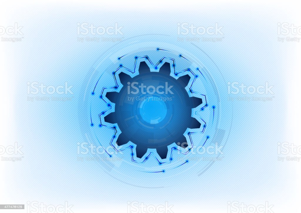 blue cogwheel royalty-free stock vector art
