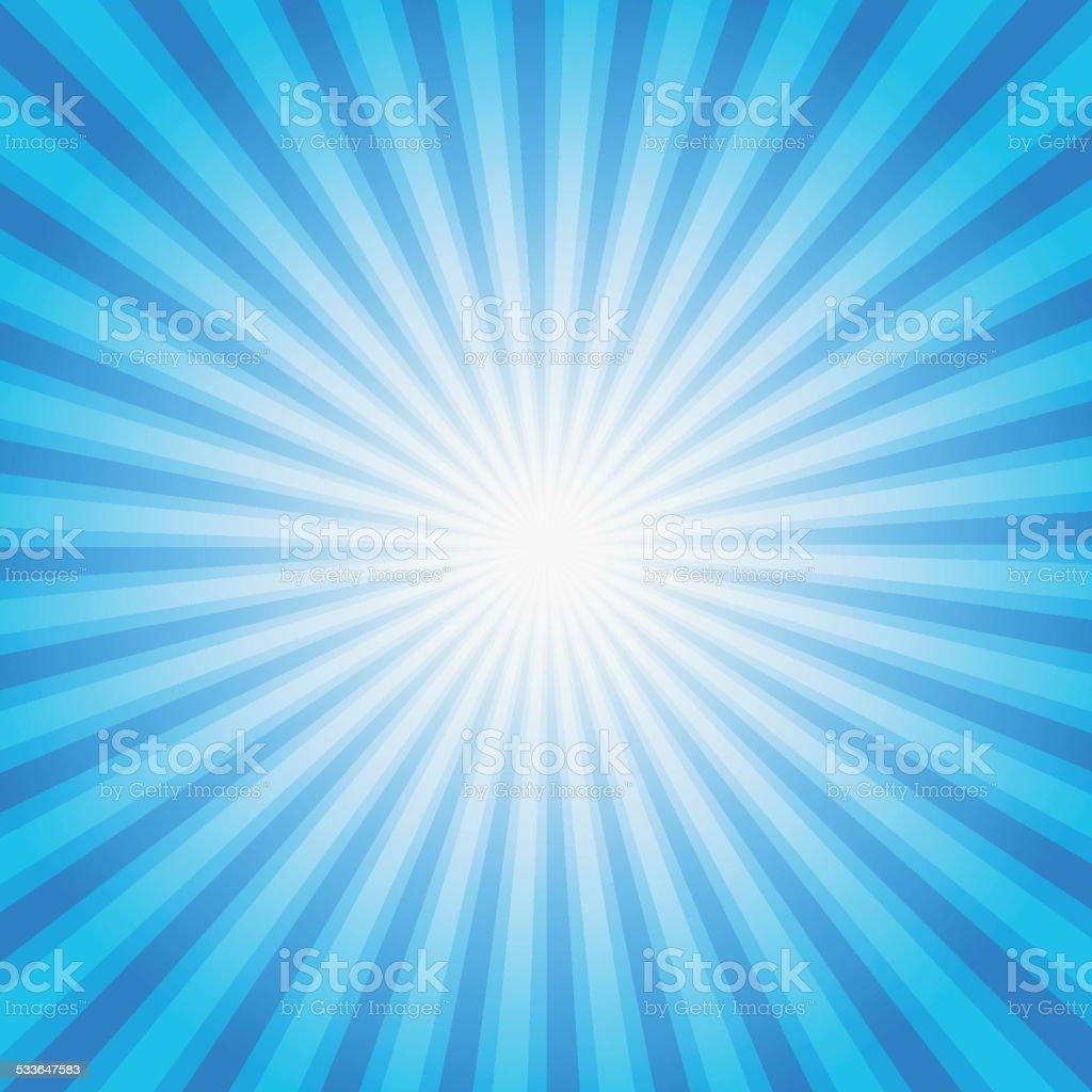 Blue color burst background. Vector illustration. vector art illustration
