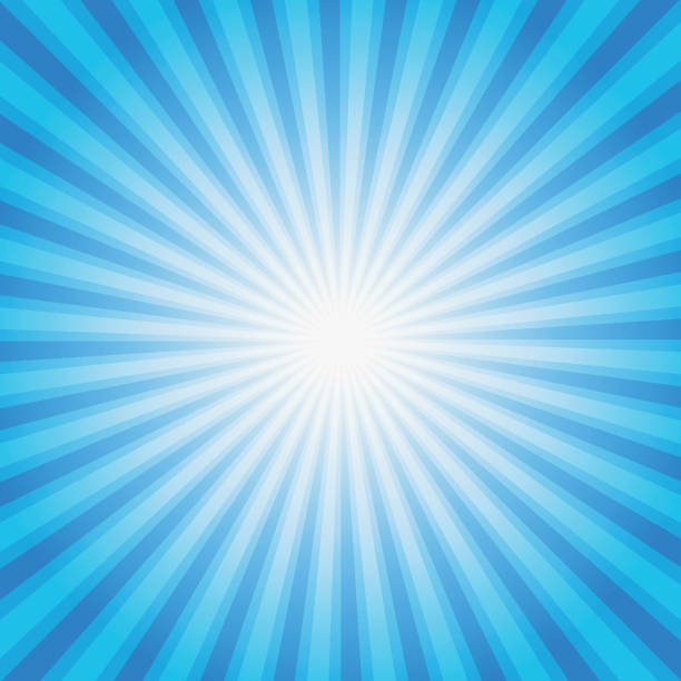 Blue color burst background. Vector illustration. Blue color burst background. Vector illustration for your design. excitement stock illustrations