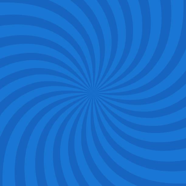 blaue farbe kreis wirbeln platzen hintergrund. vektor-illustration - verdreht stock-grafiken, -clipart, -cartoons und -symbole