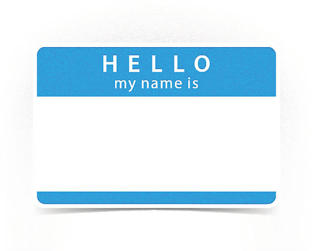 Best Name Tag Illustrations Royalty Free Vector Graphics