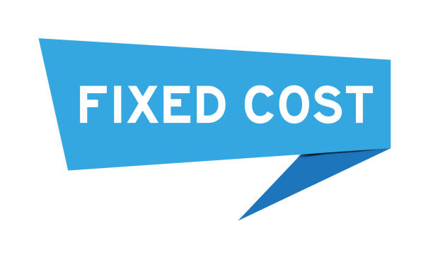 blaue farbe papier sprache banner mit wort feste kosten auf weißem hintergrund - indirect direct stock-grafiken, -clipart, -cartoons und -symbole