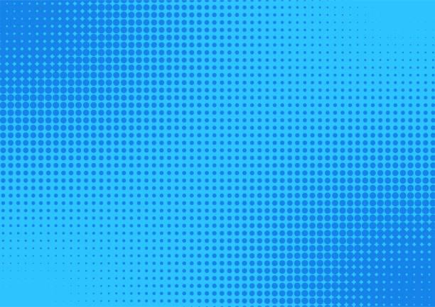ilustrações de stock, clip art, desenhos animados e ícones de blue comic cartoon background. halftone vector illustration design. - músico popular
