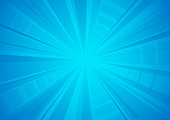 bright blue exploding star textured surface background vector illustration