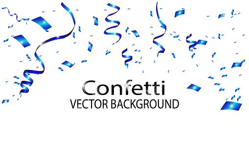 Blue confetti background