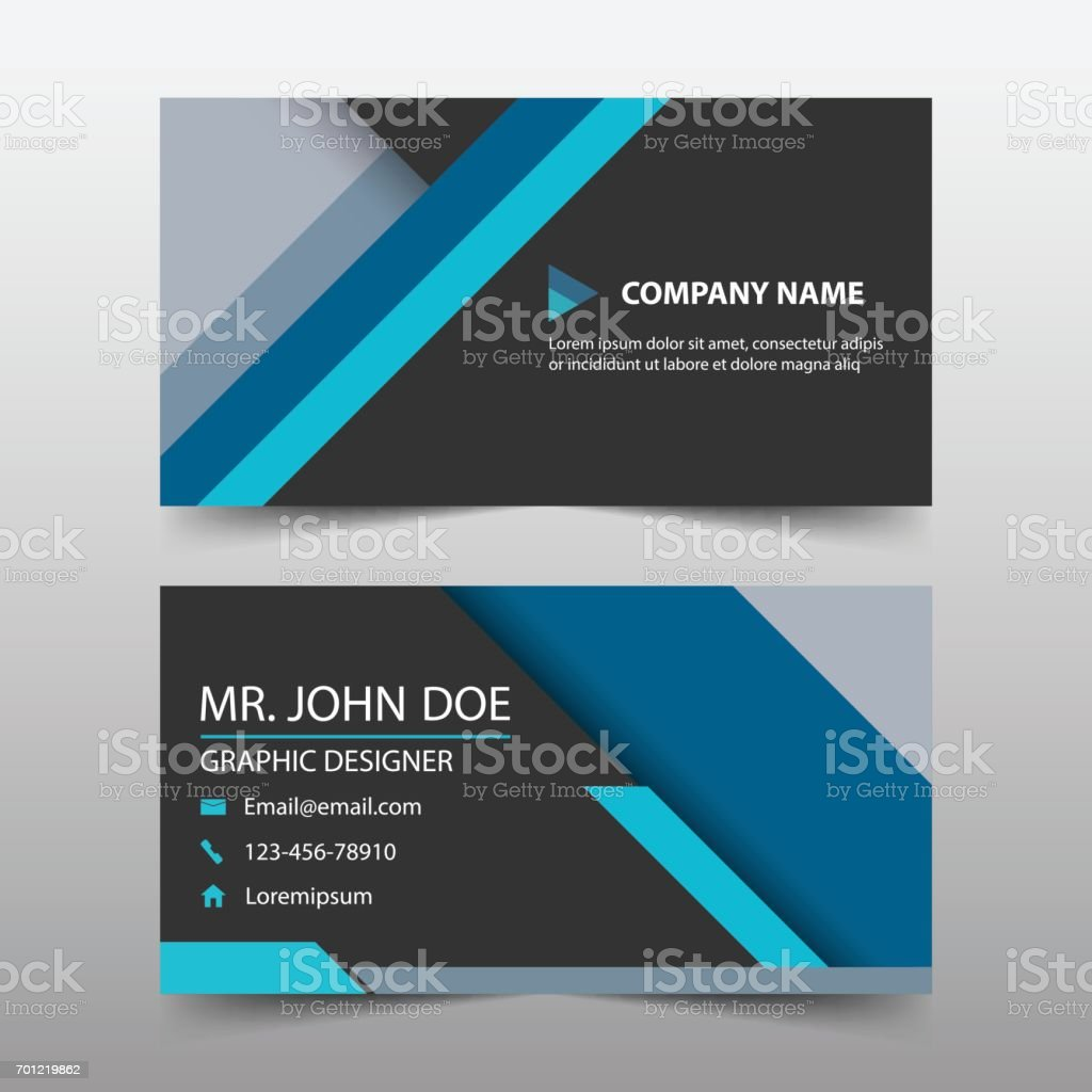 Blue corporate business card name card template horizontal simple blue corporate business card name card template horizontal simple royalty free blue corporate business card cheaphphosting Choice Image