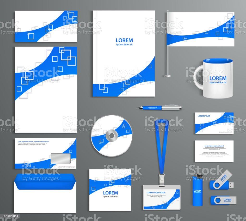 Ilustración de Azul Identidad Corporativa De Plantillas Empresa De ...