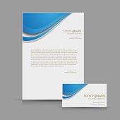 Blue corporate identity kit