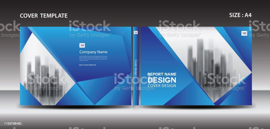 Blue Cover design template for magazine, ads, presentation, annual...