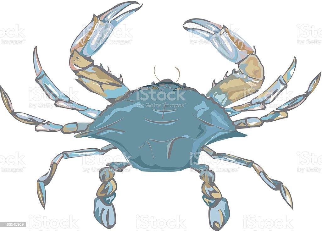 royalty free blue crab clip art vector images illustrations istock rh istockphoto com blue claw crab clipart maryland blue crab clipart