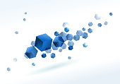 blue cube background.(ai eps10 with transparency effect)