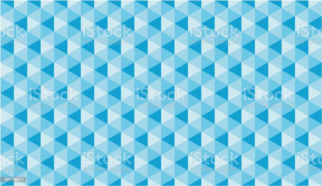 Blue Cube Seamless Vector Pattern or Seamless Vector Background vector art illustration