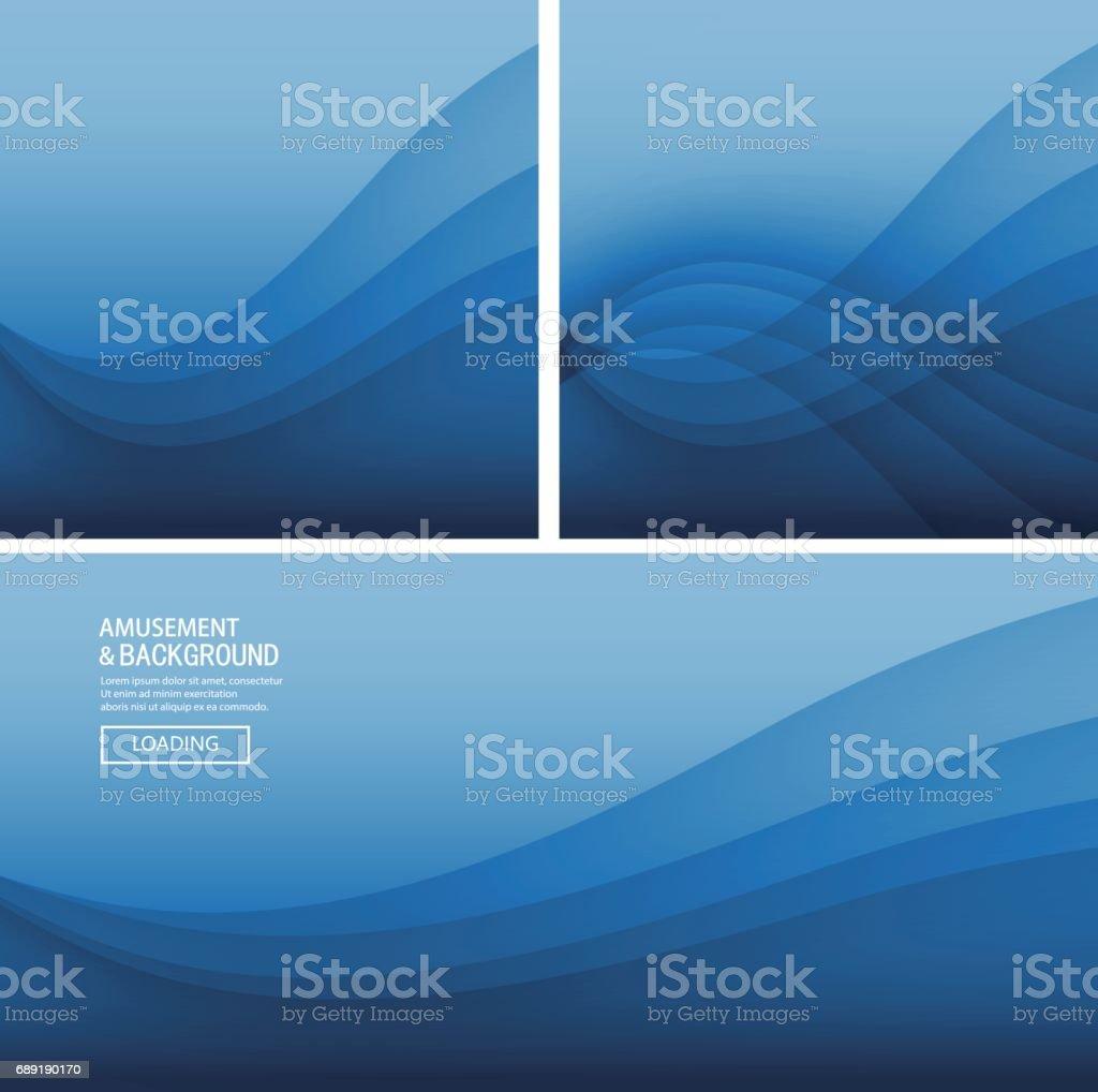 Blue curve background vector art illustration