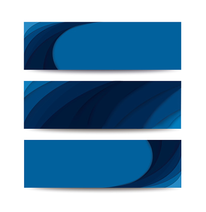 blue curve template background vector illustration EPS10