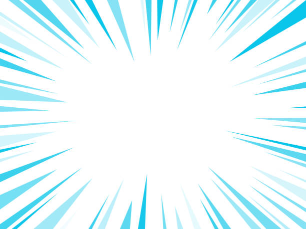 Blue Dash Lines Explosion Blast blue lines burst explosion abstract. absorption stock illustrations