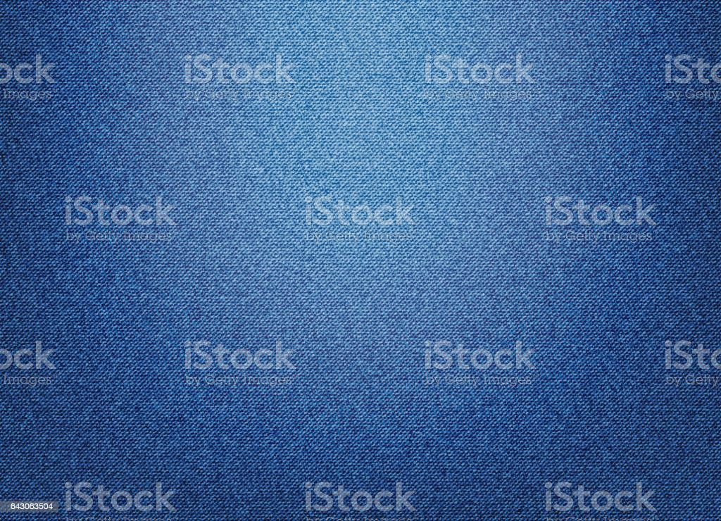 Blue Denim Textile background vector art illustration