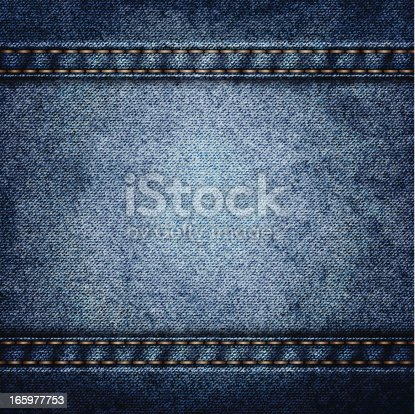Realistic texture of blue denim