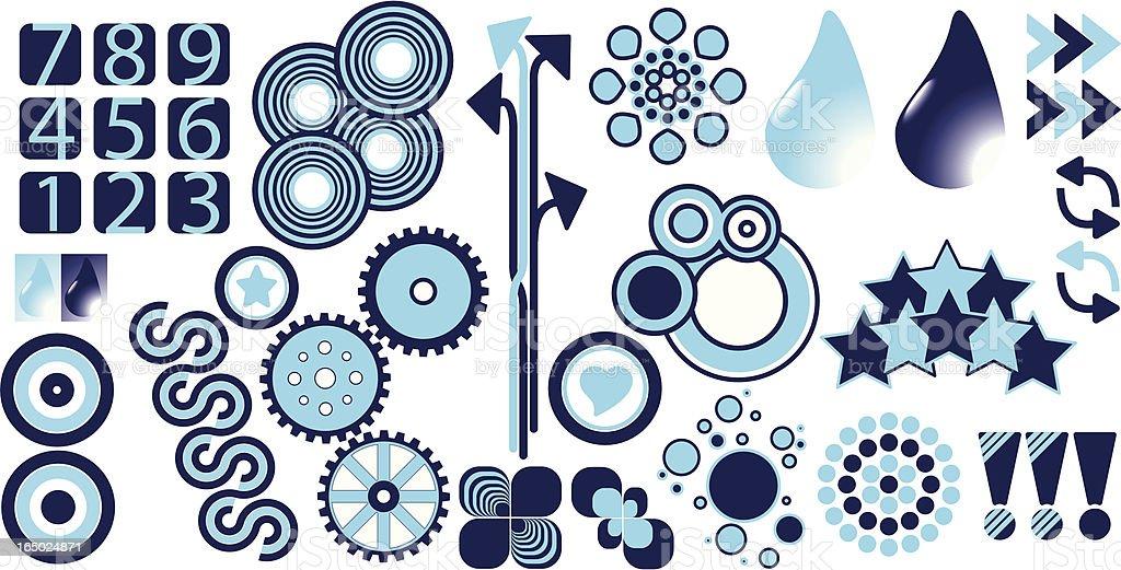Blue design elements royalty-free stock vector art