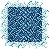 Blue Diagonal Pattern