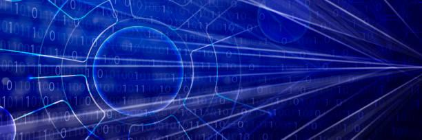 Blauer digitaler Hintergrund – Vektorgrafik