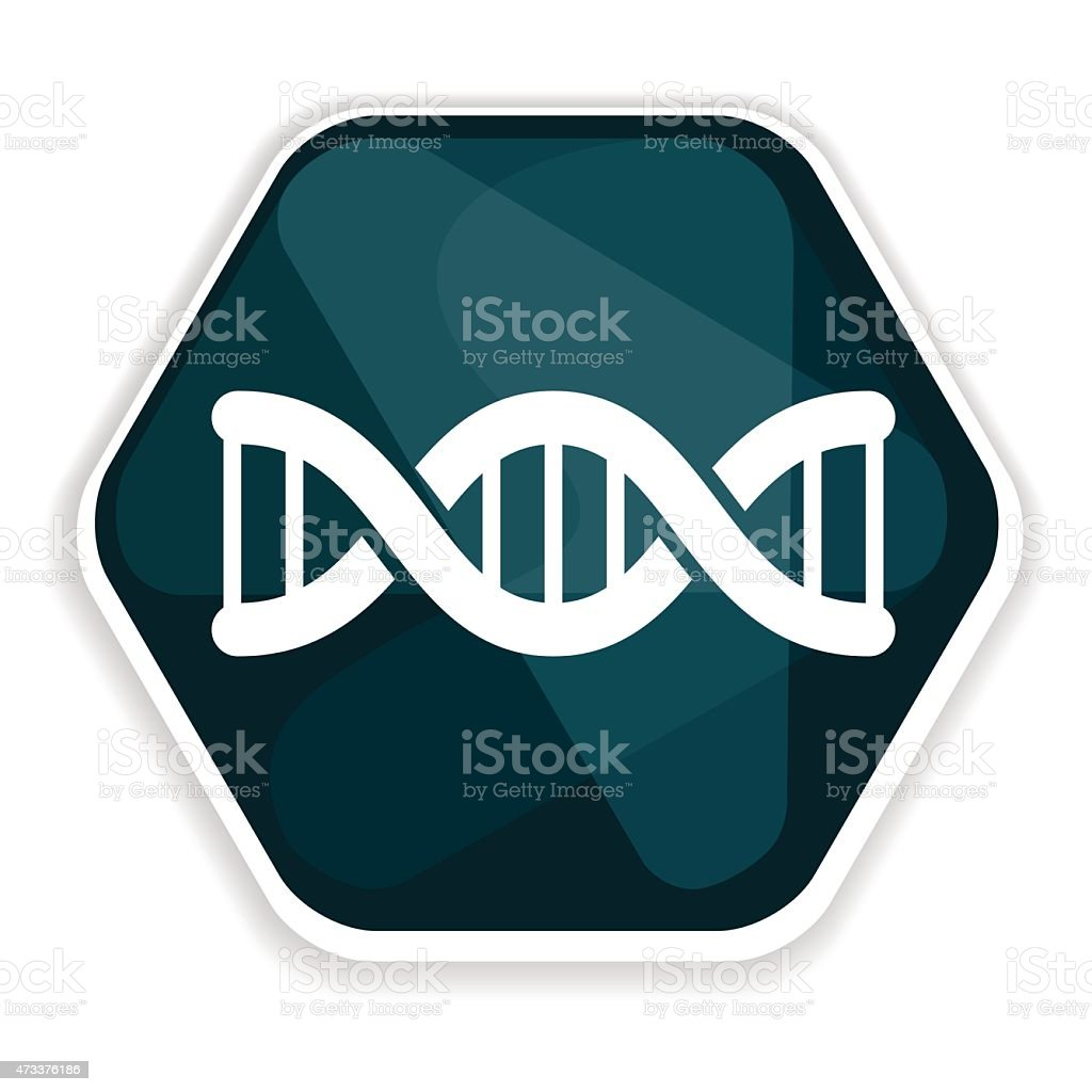 Blue DNA helix vector icon vector art illustration