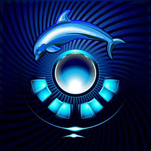 blue dolphin - vectors stock pictures, royalty-free photos & images